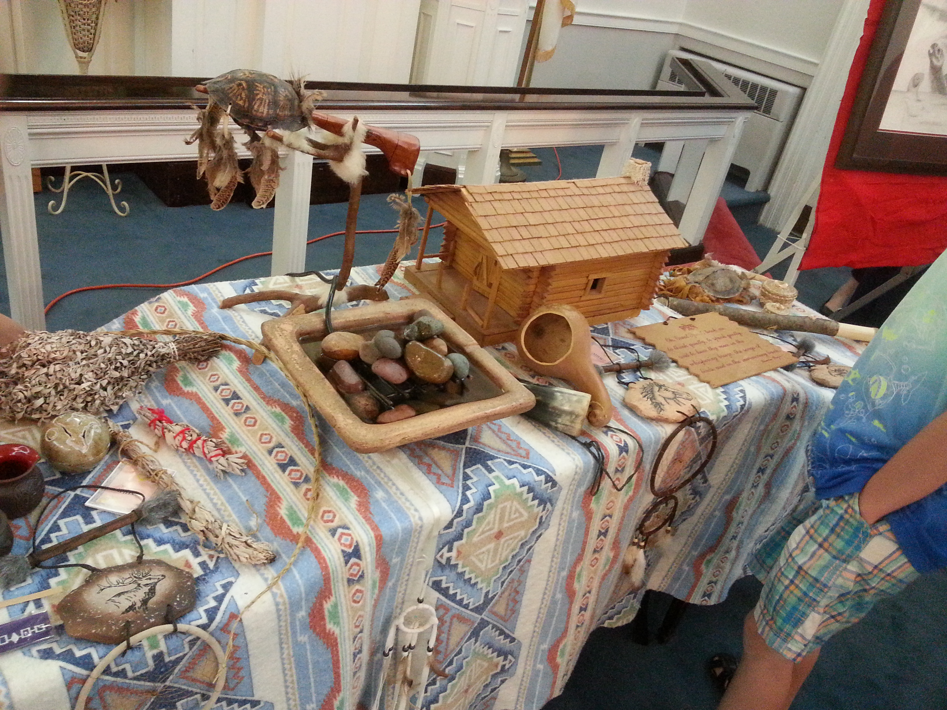 Native American artifacts displayed at Native American Cultural Celebration (May 25, 2014)