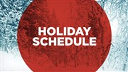 Conference Center Holiday closings announced