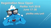 Registration is open for YeTI at Pfeiffer
