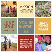 Mission Connection Team Meeting - Saturday June 2nd