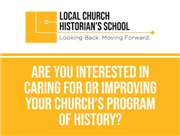 Local Church Historian School offered by GCAH
