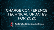 Charge Conference Technical Updates for 2020