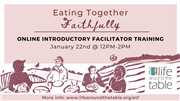 Eating Together Faithfully Online Introductory Training