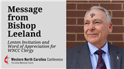 Bishop Leeland extends Lenten invitation, word of appreciation for WNCC clergy